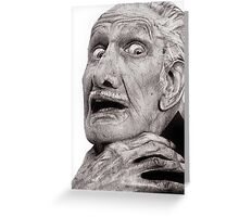 Portrait of Vincent Price Greeting Card