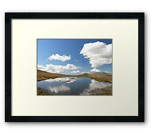Small summit Tarn Framed Print
