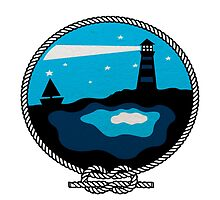 Lighthouse guiding boat by Hayley Dalrymple