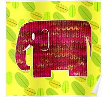 knitty elephant Poster