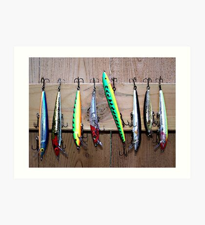 Fish Lures Art Print