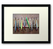 Fish Lures Framed Print