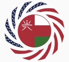 Omani American Multinational Patriot Flag Series One Piece - Long Sleeve