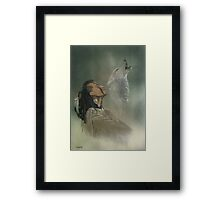 Native american indian Framed Print