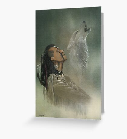 Native american indian Greeting Card