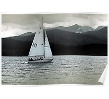 Solitary Sail Poster