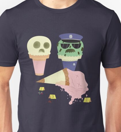 Ice Cream Crime Scene Unisex T-Shirt