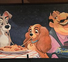 Disney Lady and the Tramp Lady Tramp & Tony Spaghetti Meatballs by notheothereye
