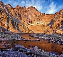 First Light at Chasm Lake by Brian Kerls  photography
