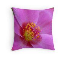 Hot Pink Portulanca Throw Pillow