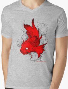 Koi   red Mens V-Neck T-Shirt