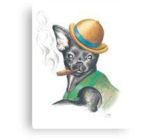 Chug In Bowler Hat Canvas Print