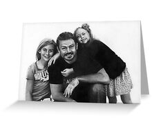 Jon and Daughters Greeting Card