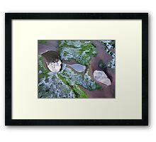 three rockpools Framed Print