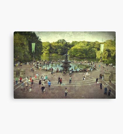 The heart of Central Park Canvas Print