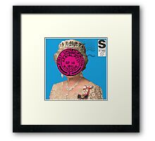 The Queen Postage Stamp Framed Print