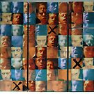 untitled - self portrait - grid series #1 by Stephen Sheffield