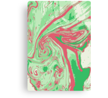 Marble - Green Canvas Print