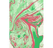 Marble - Green Photographic Print