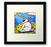 The Elusive Jackalope Framed Print