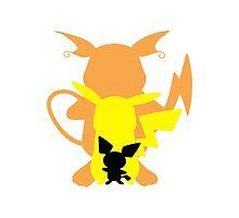 The Pikachu Family by FalseIdentity