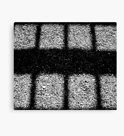 Shadows on Gravel Canvas Print