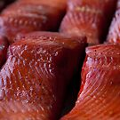 Fresh WILD Alaska Smoked King Salmon by DJ LeMay
