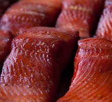 Fresh WILD Alaska Smoked King Salmon by DJ LeMay