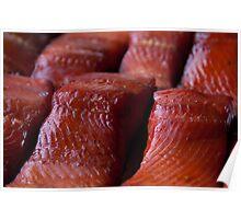 Fresh WILD Alaska Smoked King Salmon Poster