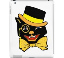 Vintage Black Cat iPad Case/Skin