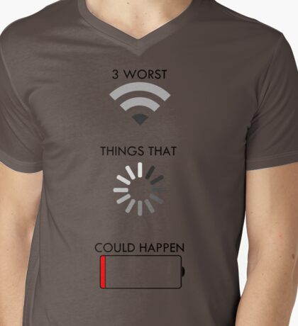 3 Worst Things That Could Happen Mens V-Neck T-Shirt