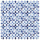 Imperfect Geometry Blue Petal Grid by Nic Squirrell