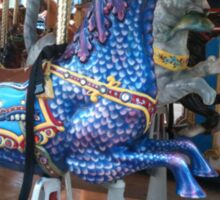 Aquatic Carousel Dragon Sticker