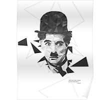 Chaplin in Poly Style Poster