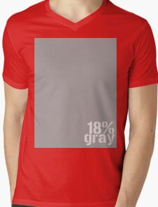 18% Gray Card Mens V-Neck T-Shirt