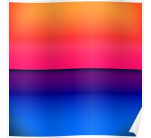 Bright Neon Abstract Sunrise Poster