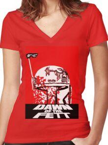 DAWN OF THE FETT Women's Fitted V-Neck T-Shirt