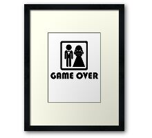 Marriage … Game over (1) Framed Print