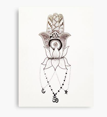 Three Symbols of Spirituality Canvas Print
