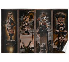 Disney Haunted Mansion Disney Doom Buggy Stretching Portraits Poster
