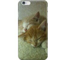 Sleepy Orange Kittens iPhone Case/Skin