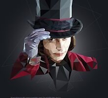 Willy Wonka in Poly Style by leomarino