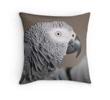 Congo African Grey Parrot Throw Pillow