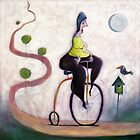 Cycling to the big bird box in the sky by Neil Elliott
