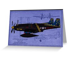 Hard Luck - F-82F Twin Mustang Greeting Card