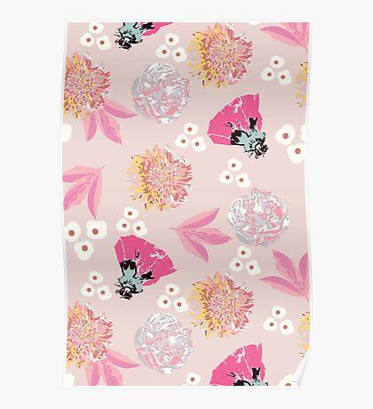 spring garden - pink Poster