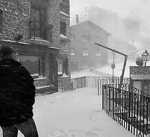 Snowstorm in Andorra by nathanpwilliams