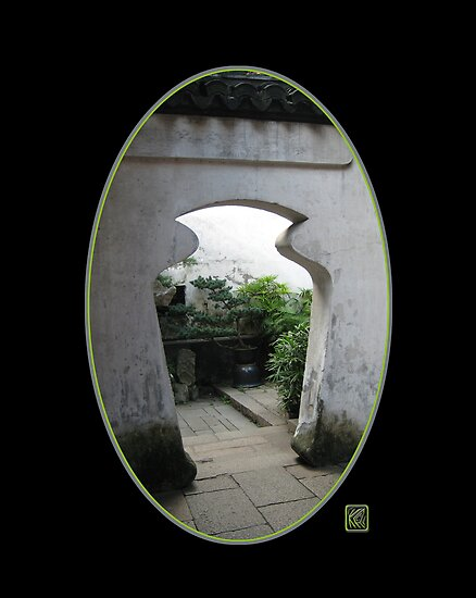 Yu Gardens Jar Doorway, Shanghai by Keith Richardson