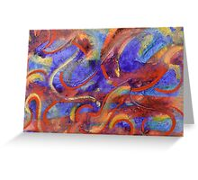 Tempest by Holly Cannell - Abstract Painting Greeting Card