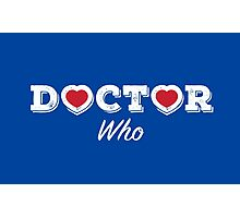 The Doctor has Two Hearts (white) Photographic Print